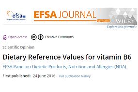 Valores dietéticos de referencia: recomendación sobre vitamina B6