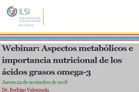 Webinar: Aspectos metabólicos e importancia nutricional de los ácidos grasos omega-3