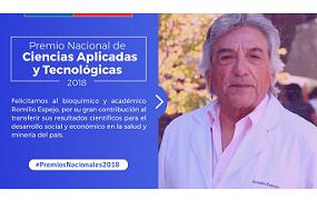 Premio nacional de ciencias aplicadas y tecnológicas, Romilio Espejo